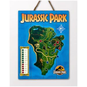 Doctor Collector Jurassic Park Nublar Island Map WoodArts 3D