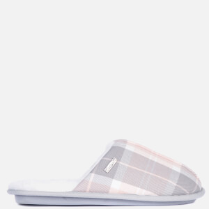 Barbour Women's Maddie Slippers - Recycled Pink/Grey Tartan