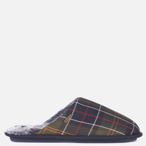 Barbour Men's Young Mule Slippers - Recycled Classic Tartan