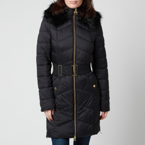 Barbour International Women's Match Quilt Coat - Black