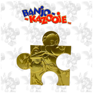 Banjo Kazooie Limited Edition 24K Gold plated Jigsaw Piece - Jiggy