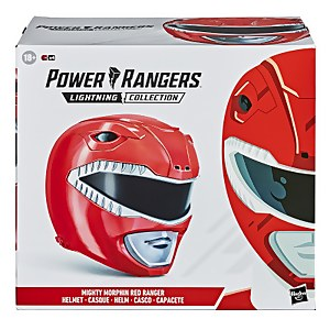 Hasbro Power Rangers Lightning Collection Mighty Morphin Red Ranger Helmet 1:1 Replica