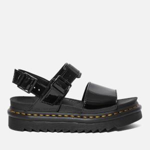 Dr. Martens Women's Voss Patent Sandals - Black Patent