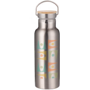 Retro Shapes Portable Insulated Water Bottle - Steel