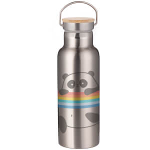 Panda Portable Insulated Water Bottle - Steel