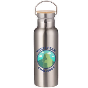 Three Peak Challenge Portable Insulated Water Bottle - Steel