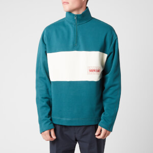 Napapijri X Martine Rose Men's B-Roseland Half Zip Sweatshirt - Deep Green