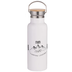 Mum Camping Legend Portable Insulated Water Bottle - White