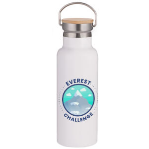 Everest Challenge Portable Insulated Water Bottle - White