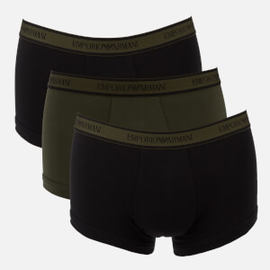 Emporio Armani Men's Logoband 3 Pack Trunk Boxer Shorts - Grey/Black