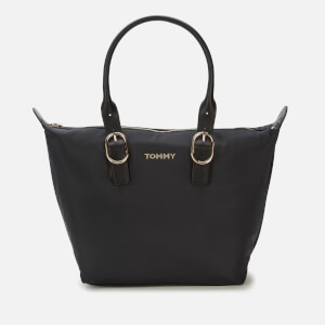 Tommy Hilfiger Women's Recycled Nylon Tote Bag - Black