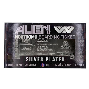 Alien Silver Plated Limited Edition Nostromo Boarding Ticket