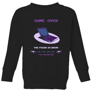 Ilustrata The Pizza Is Over Kids' Sweatshirt - Black