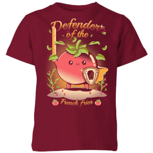 Ilustrata Defenders Of The French Fries Kids' T-Shirt - Burgundy