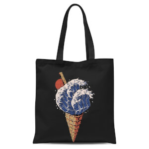 Ilustrata Kanagawa Flavour Tote Bag - Black