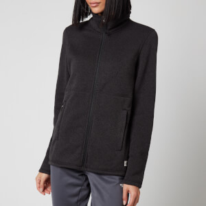 The North Face Women's Crescent Full Zip Fleece - TNF Black