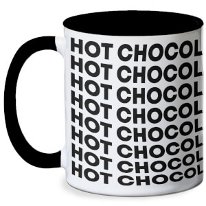 Hot Chocolate Mug - White/Black