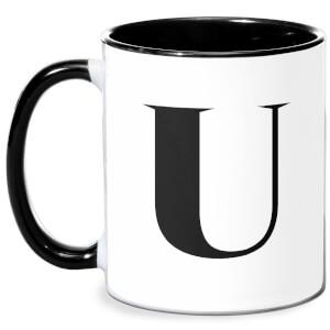 U Mug - White/Black