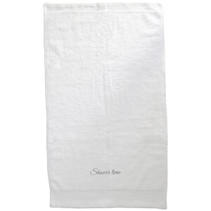 Shower Time Embroidered Towel