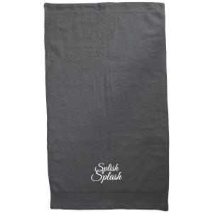 Splish Splash Embroidered Towel