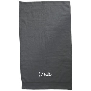 Bathe Embroidered Towel