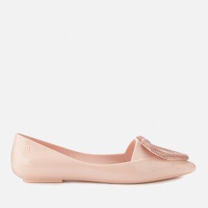 Melissa Women's Pointy Heart Ballet Flats - Blush