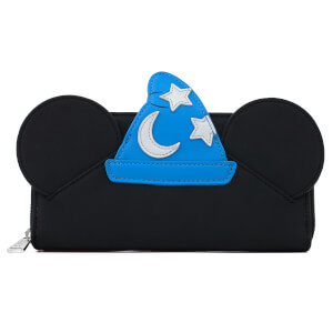 Loungefly Disney Fantasia Sorceror Mickey Cosplay Zip Around Wallet