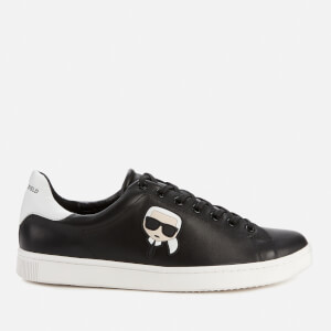 Karl Lagerfeld Men's Kourt Karl Ikonic 3D Lace Leather Trainers - Black