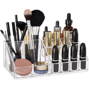 Clear Cosmetics Organiser - 16 Compartment