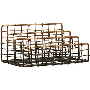 Mimo Wire Letter Rack - Black/Rose Gold
