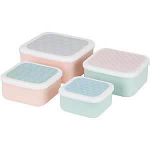 Mimo Frosted Deco Lunch Box Set - Stackable