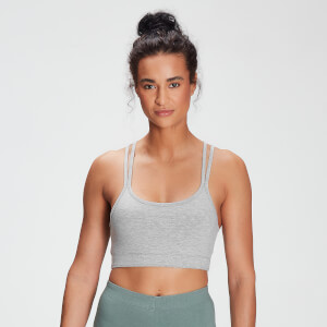 MP Women's Tonal Graphic Bra - Grey Marl