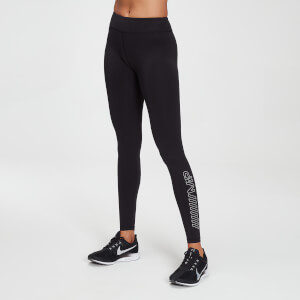 MP Women's Branded Training Leggings - Black