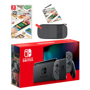 Nintendo Switch (Grey) 51 Worldwide Games Pack