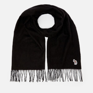 PS Paul Smith Men's Zebra Patch Scarf - Black