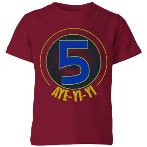 Power Rangers Alpha-5 Logo Kids' T-Shirt - Burgundy