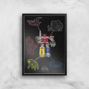 Power Rangers Megazord Giclee Print Giclee Art Print
