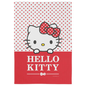 Hello Kitty Red Polka Dots Tea Towel