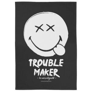 Smiley Trouble Maker Tea Towel