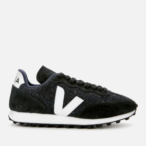 Veja Women's Rio Branco Flannel Running Style Trainers - Darl/White/Black