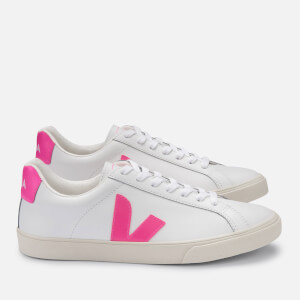 Veja Women's Esplar Logo Leather Trainers - Extra White/Sari