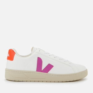Veja Women's Urca Vegan Trainers - White/Ultraviolet/Orange Fluo