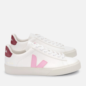 Veja Women's Campo Chrome Free Leather Trainers - Extra White/Guimauve/Marsala
