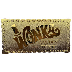Willy Wonka 24k Gold Plated Winning Ticket Limited Edition Replica - Zavvi Exclusive (50th Anniversary)