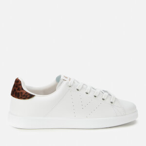 Victoria Women's Sustainable Leather Cupsole Trainers - Leopardo