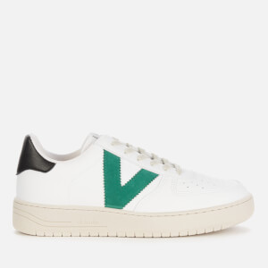 Victoria Women's Sustainable Leather Trainers - Verde