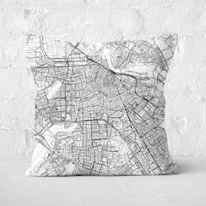 Amsterdam City Map Square Cushion