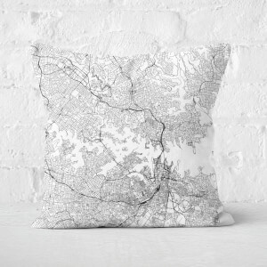 Sydney City Map Square Cushion