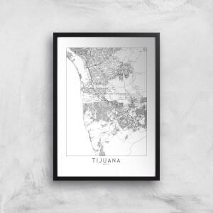 Tijuana Light City Map Giclee Art Print