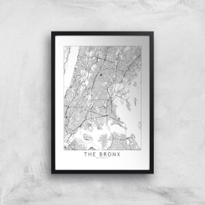 The Bronx Light City Map Giclee Art Print